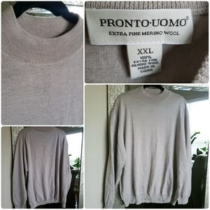 Pronto Uomo Merino Wool Sweater Sz XXL  NWOT
